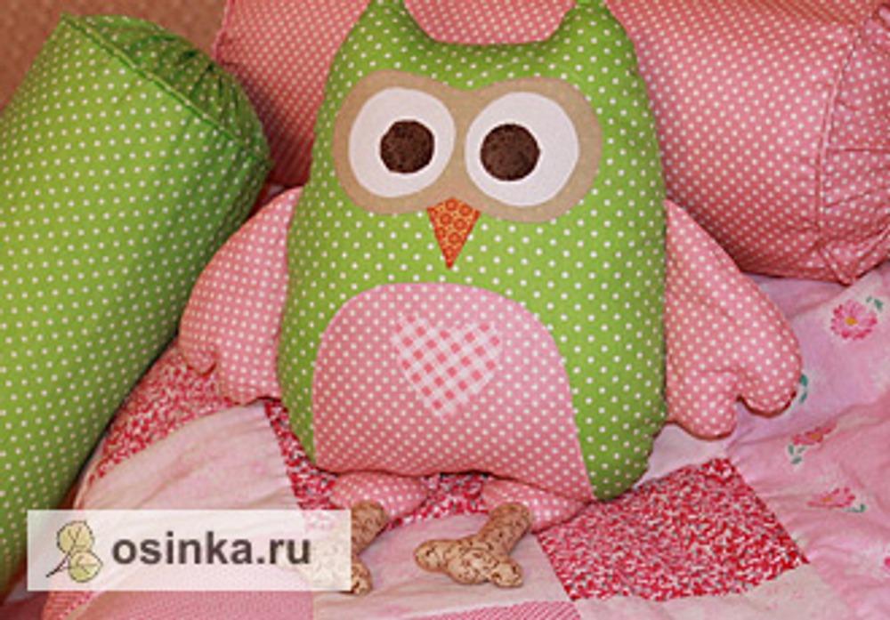 """Фото. Подушка на """"совиную"""" тему. Автор работы - ZolushkaSveta ."""