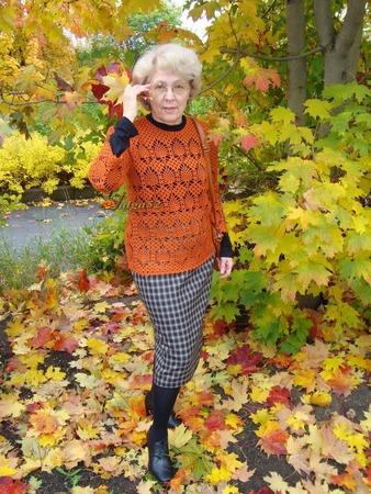 """Фото. Джемпер крючком """"Осенний ананас"""".  Автор работы - Valga52"""