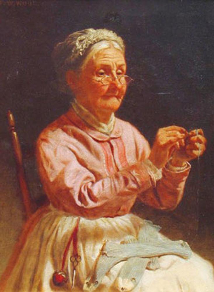 "Фото. Thomas Waterman Wood ( 1823 –1903) ""A Needle and Thread"", 1860 г."