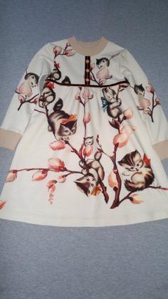 Фото. Платье для садика из футера.  Автор работы - MamaRa1706