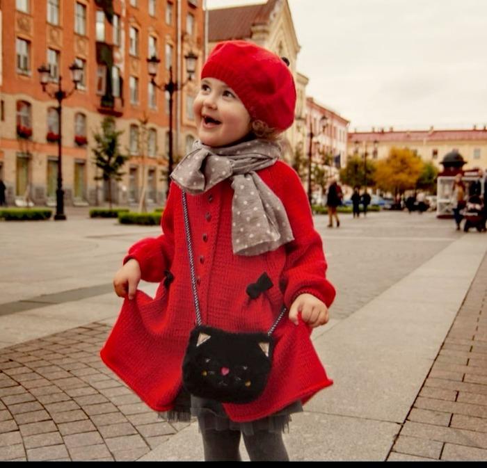 Фото. Для внучки пальтишко из альпаки цвета красный Диор.   Автор работы - Virina1