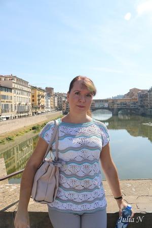 "Фото. Топ ""Firenze"", спицы 2-2.5.  Автор работы - Julia-N"