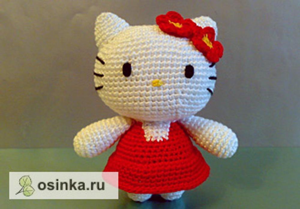 "Фото. Знаменитая Hello Kitty - ""родоначальница"" современных амигуруми. Автор работы - Sonbahar ."