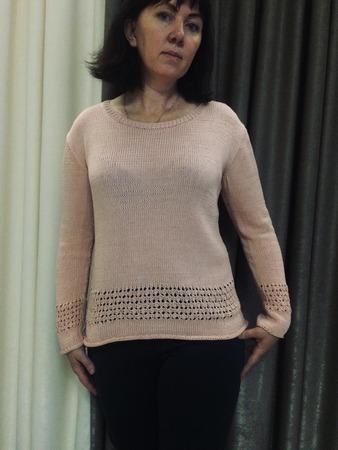 Фото. Пуловер из хлопка Primavera ceam.  Автор работы - PolinaM