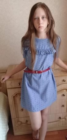 Фото. Летнее платье для Полины. С воланом, его она сама попросила.