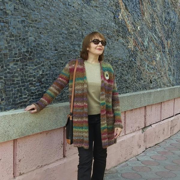 Фото. Карди-коврик из Noro Shaggy. Автор работы - Zolushkina_Tapetka