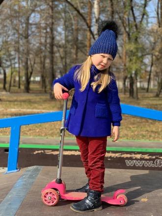 Фото. Полупальто для девочки - пальтовая ткань и вязаные рукава. Автор работы - Surochek