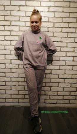 Фото. Трикотажный костюм для дочки.  Автор работы - Елена весенняя