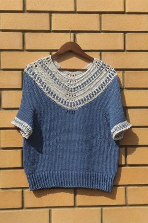Фото. Пуловер Dot Dot Dash Pullover by Midori Hirose.   Автор работы - vanady