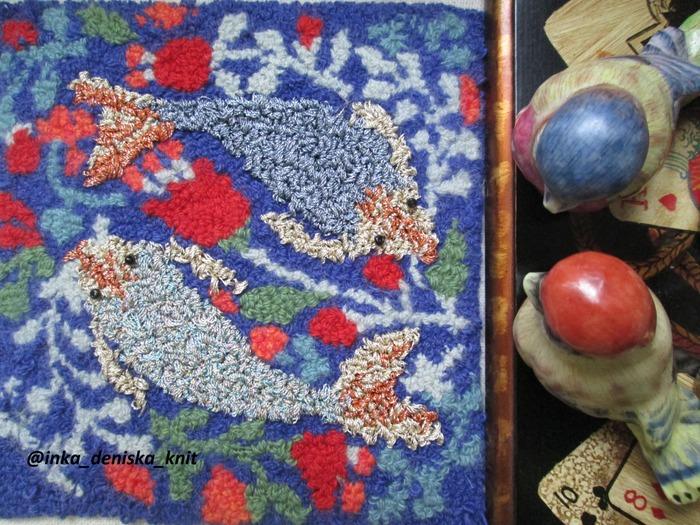 """Фото. """"Рыбки"""" выполнены в технике ковровой вышивки. Автор работы - muss88"""