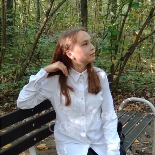 Фото. Трикотажная рубашка для дочки. Автор работы - Салампи