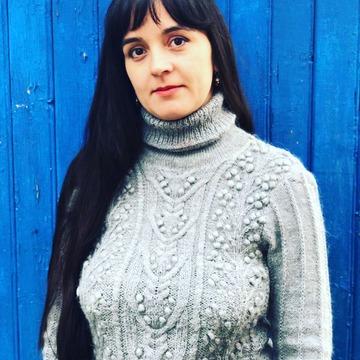 Фото. Свитер из Alise Ангора с добавлением нитки мохера. Автор работы - Агра