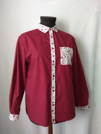 Фото. Блузка из остатков (американской или итальянской)  ткани.