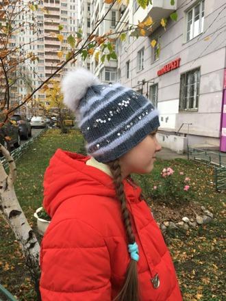 Фото. Шапка по описанию Лены Родиной #shining_hat.  Автор работы - Елена Трегубова