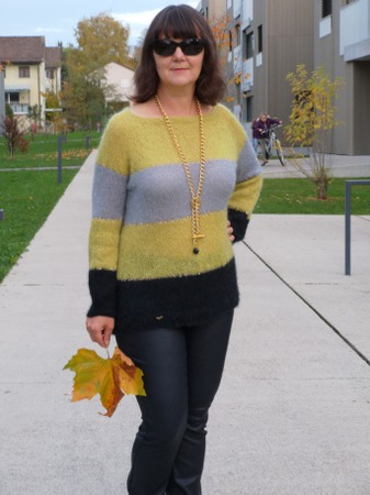 Фото. Пуловер из двух видов пряжи.  Автор работы - Virina1