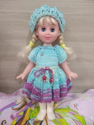 Фото. Кукла из д/с. Комплект  подсмотрен тут, на Осинке. Автор работы - Saberwarden