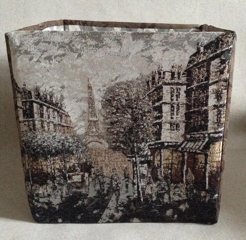Фото. Текстильная коробка из мебельных тканей. Автор работы - larissaherisson