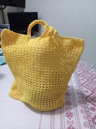 Фото. Авоська - сумка летняя, их часто вяжут из яркой пряжи.  Автор работы - Rita_26