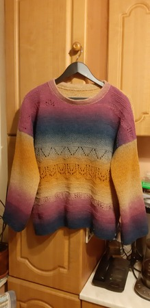 """Фото. Пуловер """"Закат на Фиджи"""" из дундага 6.1. Автор работы - Floretta"""