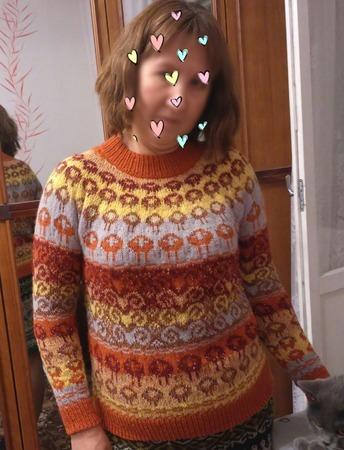 Фото. Жаккардовый свитер. Автор работы - krysonka
