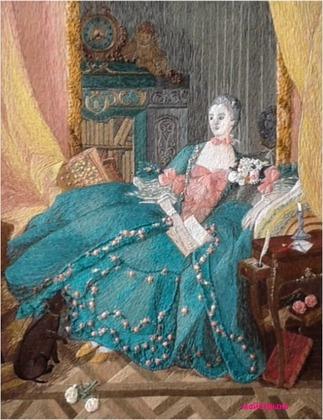 """Фото. """"Портрет мадам Помпадур по картине Франсуа Буше"""". Автор работы - майстрыня"""