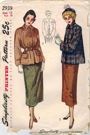 """Фото. Ну, вот придумалось, когда увидела в магазине утеплитель """"пуховый платок"""", всё в голове сложилось. В голове были образы из конца 1940-х и 1950-х. Детали сделала по своему желанию."""