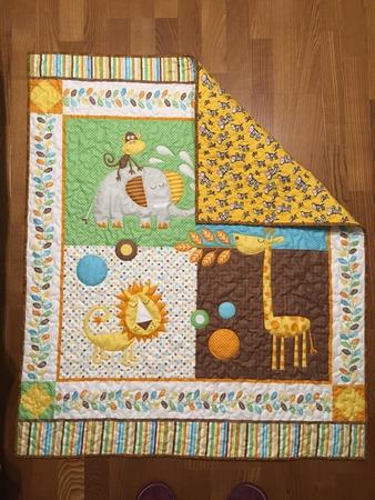 Фото. Детское одеяло.  Автор работы - _lapteva