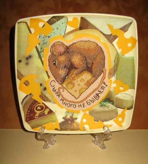 """Фото. """"Сырная тарелка"""" (по схеме Ирины Наниашвили """"Крыска Ириска"""").  Автор работы - Simfony"""