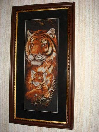 """Фото. Мои любимые вышитые картины это  """"Ночная саванна. Тигрица""""..."""