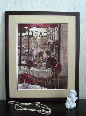 "Фото. ... и ""Кафе для двоих"" по картине художника Брента Хейтона ""Романтический вечер""."