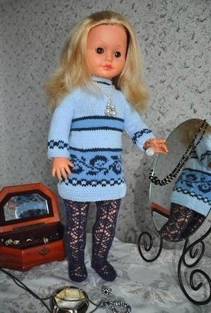Фото. Наряд для моей куклы Наташи - ей больше 45 лет.