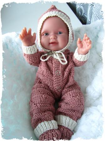 Фото. Вязаный комбинезон для куклы. Автор работы - mimoza12