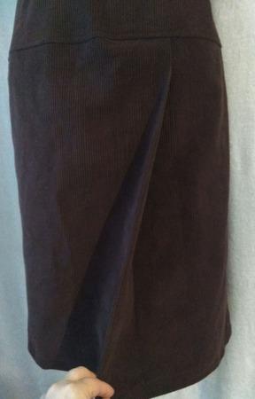 Фото. Юбочка из винтажного вельвета с ложным запахом.  Автор работы - St.Elena