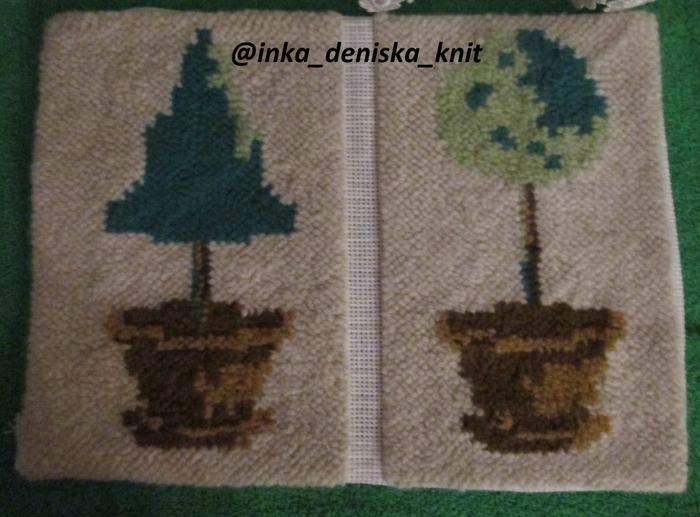 Фото. Миртовое деревце в технике ковровая вышивка. Автор работы - muss88