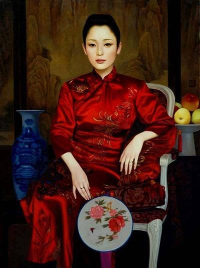 """Фото. Xue Yanqun """"Девушка с веером"""""""
