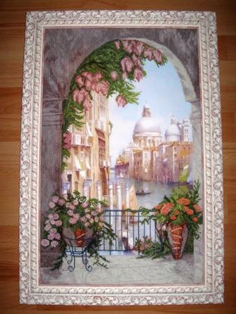 """Фото. """"Венецианская сказка"""" - вышивка по набору фирмы """"Краса i творчiсть"""". Автор работы - Simfony"""