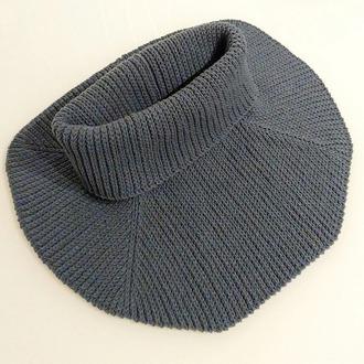 Фото. Манишка, поперечное вязание крючком.