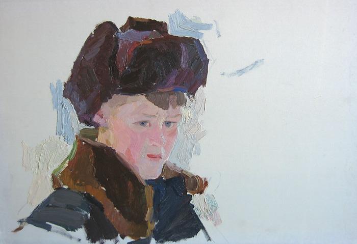 """Фото. Альберти П. Ф. """"Мальчик в ушанке"""",1958 г."""