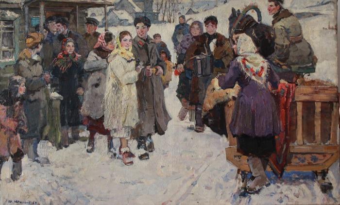 """Фото. Межиров Ю. А. """"Проводы"""", 1959 г."""