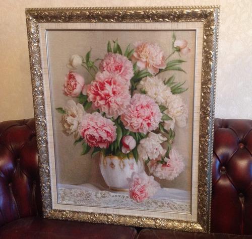 """Фото. Эстэ """"Пионы мадам Ренье"""". Вышивала бабушка 84 годика. Фото - Августейшая Особа"""