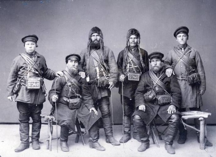 Фото. Рыбаки-поморы. Фото начала XIX века.