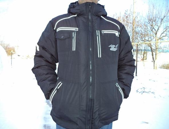 Фото. Куртка  мужу для работы, из таслана.  Попросил сделать много карманов.