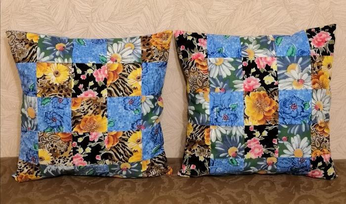 Фото. Лоскутные подушки Автор работы - Марина З.
