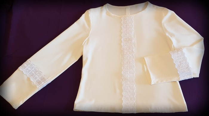 Фото. Блузка из плотного шелка. Автор работы - Moldovanka