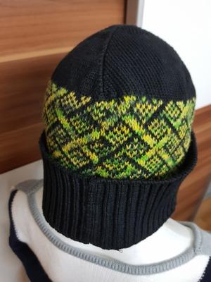 Фото. Что мы все про носки -  еще шапочка мужская, машинное вязание.