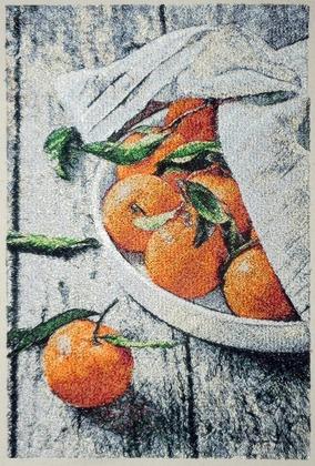 Фото. Самый новогодний фрукт вышился - мандаринки!!!  Автор работы - Mazzy
