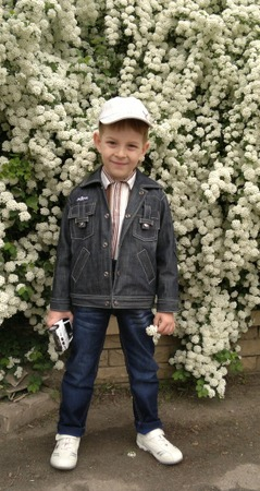 Фото. Джинсовая курточка и поло для сына.