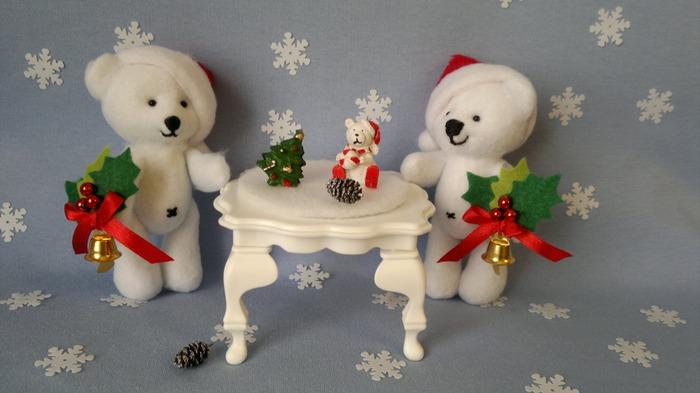 Фото. Новогодние мишки-малыши. Автор работы - MamaRa1706