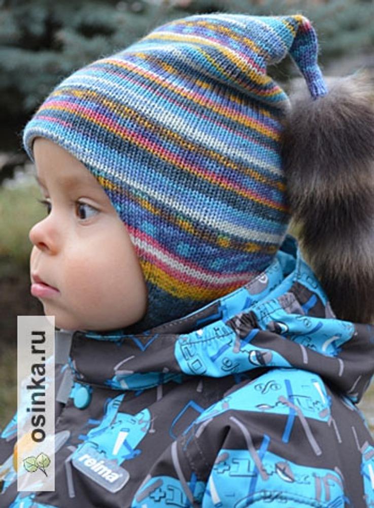 """Фото. Детская шапочка, связанная  на """"Северянке""""."""
