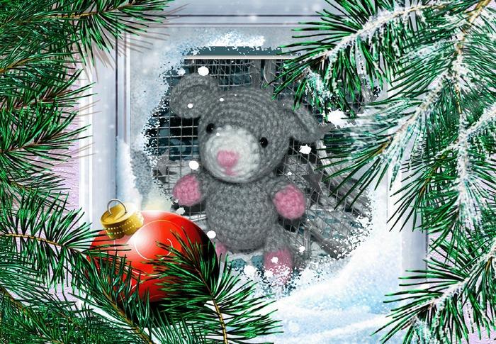Фото. Мышка новогодняя. Автор работы - Olga_Mt